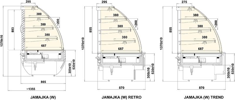 Jamajka Retro W – süteményes hűtő